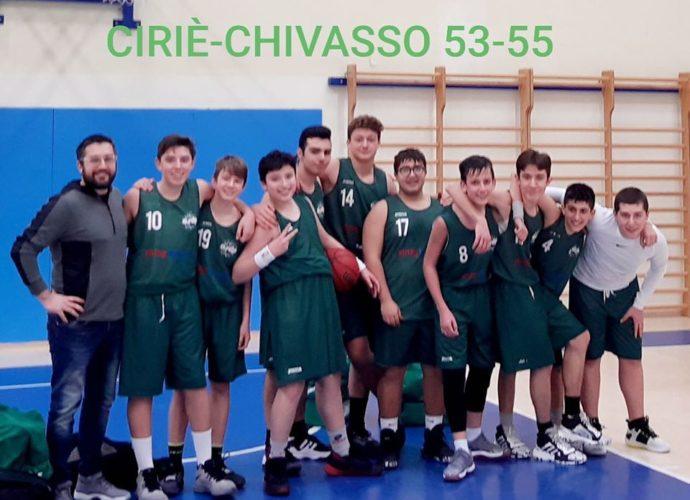 U15 Ciriè - A.S.D.P. Chivasso 53 - 55