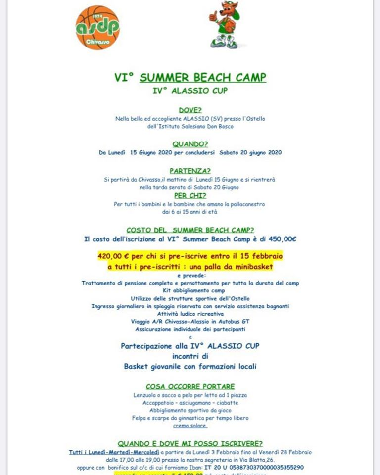 VI SUMMER BEACH CAMP